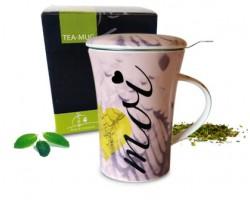 Tea-mug Toi et Moi rose