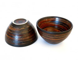 Duo de tasses noir et marron