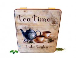 Boîte compartiment carré décor Tea Time