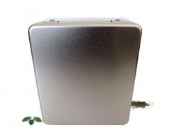 Boîte compartiment carré couleur argent