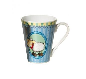 Mug en porcelaine Téo bleu