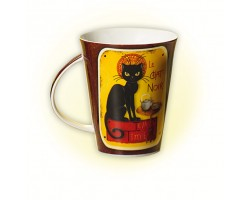 Mug en porcelaine Le Chat noir au tea-time