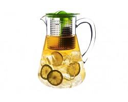 Pichet à thé glacé couvercle vert 1,8l