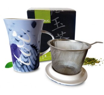 Tea-mug Toi et Moi bleu