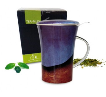 Tea-mug Design Bleu