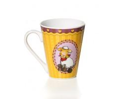Mug en porcelaine Téo jaune