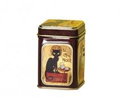 Boîte à thé carré Le Chat noir 100g