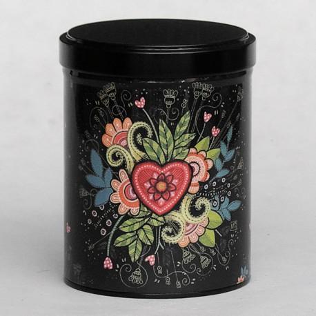 Boîte à thé COEUR FLEURI 125g